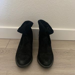 HM genuine suede leather booties